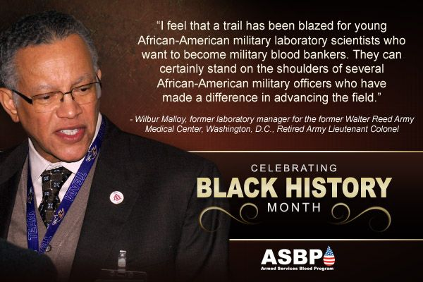 Celebrating Black History Month: Willard Malloy, former lab manager from the former Walter Reed Army Medical Center in Washington, DC, Retired Army LTC. #military #blackhistory