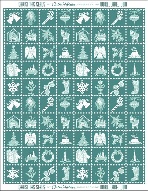 These Christmas seals and labels are designed by Cathe Holden of Justsomethingimade.comThey can be used asenvelope seals, seals for your gifts, enhancing your favor packages and lots lots more -:) Christmas seals come in a ready to print PDF template and is free to download. Visit Cathe\\\'s site to download ...