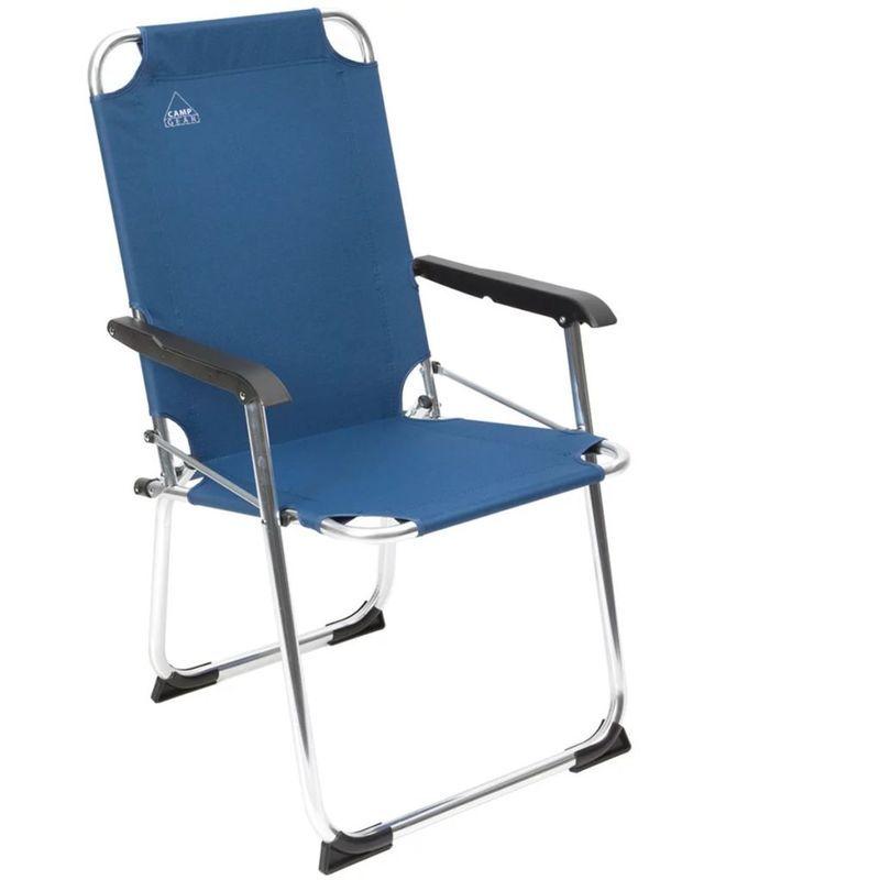 Camp Gear Chaise De Camping Pliable Classic Bleu Aluminium 1211934 Chair Furniture Home Decor