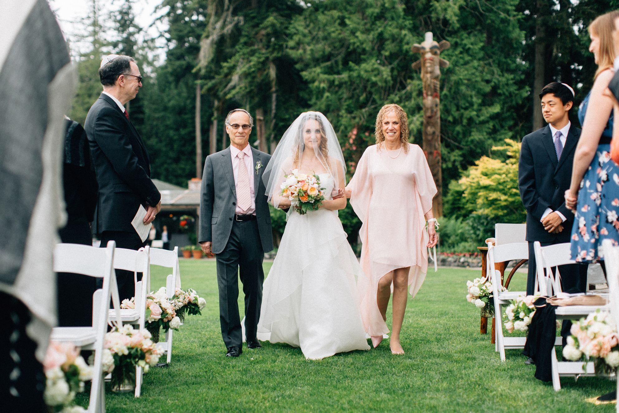 Jcrew wedding dress  Organic  Romantic Puget Sound Wedding  Vaulting Romantic and