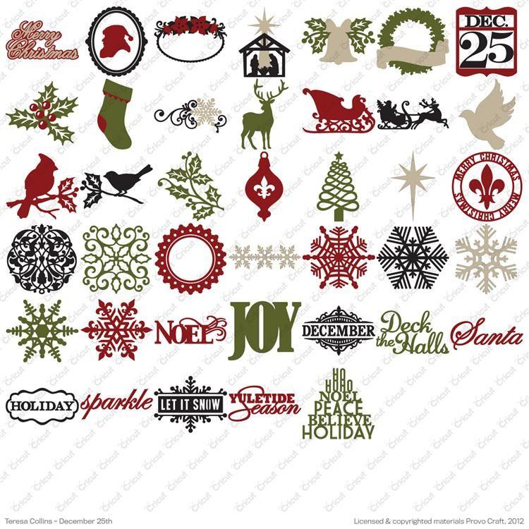 December 25th Cricut Seasonal Cartridge By Teresa Collins Teresa Collins Cricut Christmas Ideas Cricut Cartridges