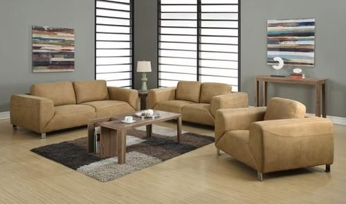 Best Tan Chocolate Brown Contrast Micro Suede Sofa Suede 640 x 480