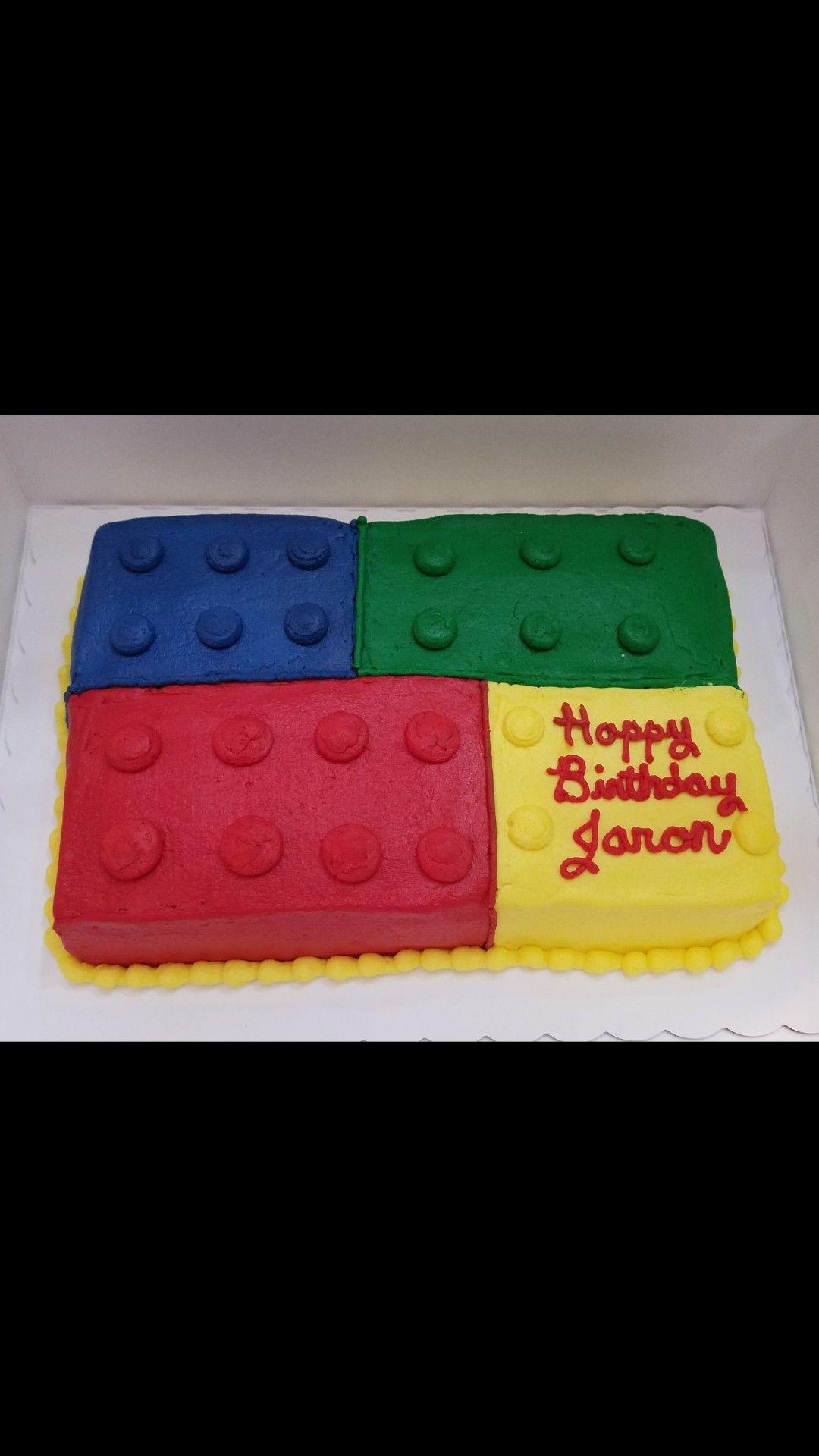 Buttercream Lego Birthday Cake Lego Birthday Cake 6th Birthday
