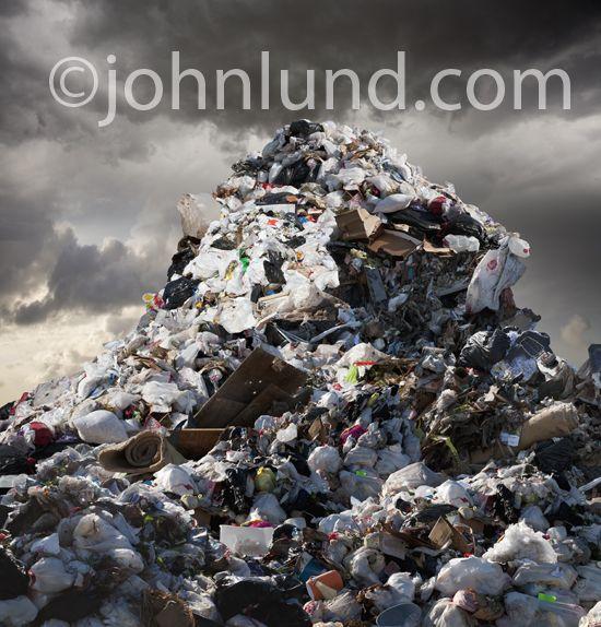 Towering Mountain Of Garbage Garbage Human Environment Garbage Pollution