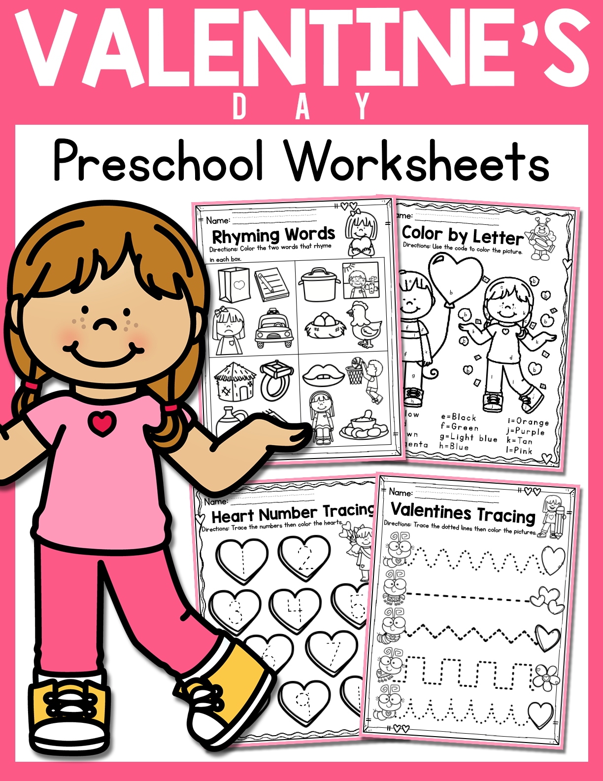 Valentine S Day Preschool Worksheets February In