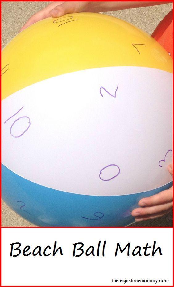 Have Fun Practicing Math Facts | Math facts, Beach ball and Math
