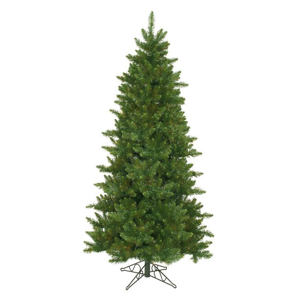 9.5-ft. Artificial Eastern Pine Slim Christmas Tree | Slim ...