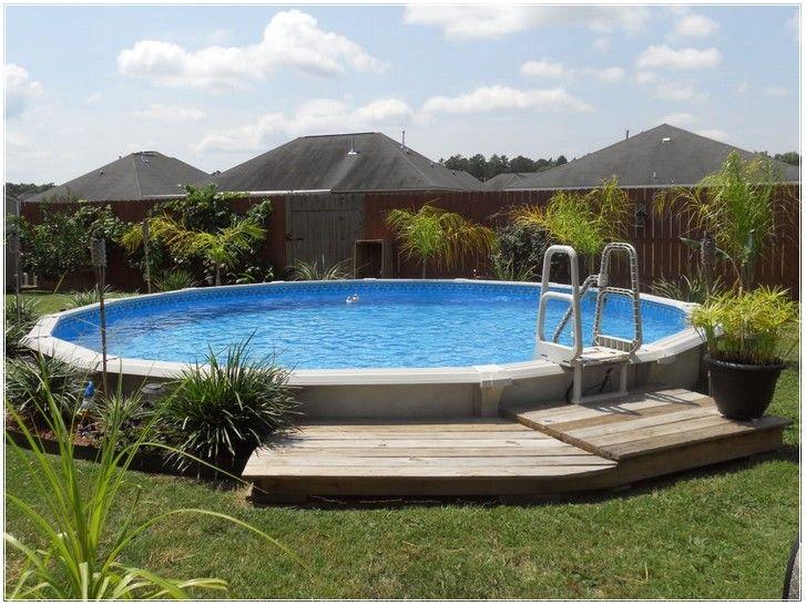 Bildergebnis für intex frame pool eingraben poolside