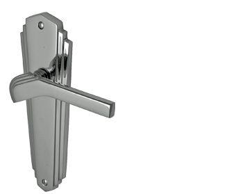 WALDORF\' ART DECO STYLE DOOR HANDLES POLISHED CHROME - WAL6510PC ...