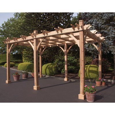 Outdoor Living Today Breeze Western Red Cedar 12 X 16 Pergola 6877 85 Outdoor Pergola Wood Pergola Pergola Patio