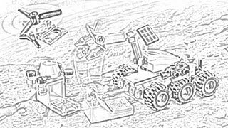 Lego Coloring Pages Space Images