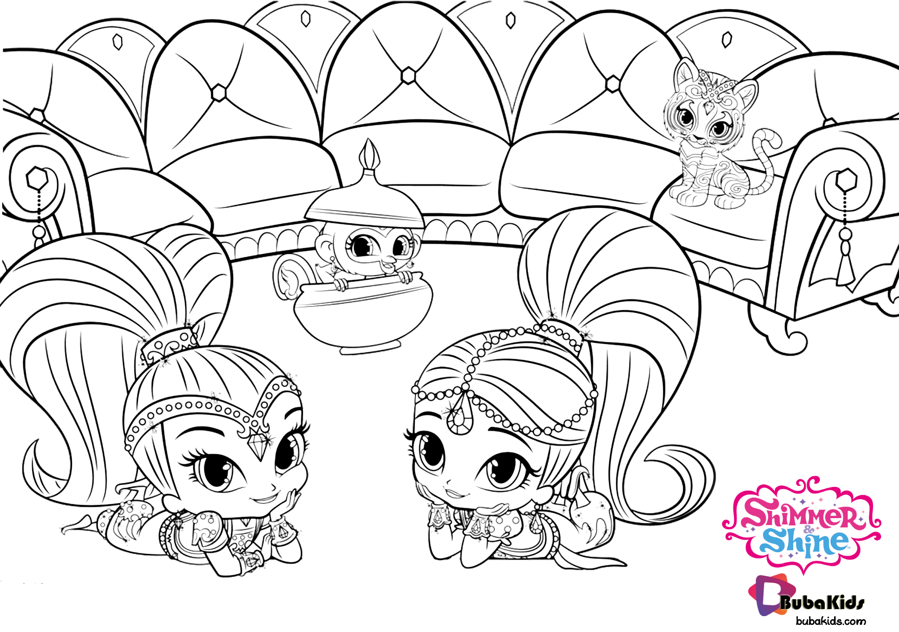 Nick Jr Shimmer And Shine Printable And Free Coloring Page Collection Of Cartoon Coloring Pages F Mermaid Coloring Pages Cartoon Coloring Pages Coloring Pages