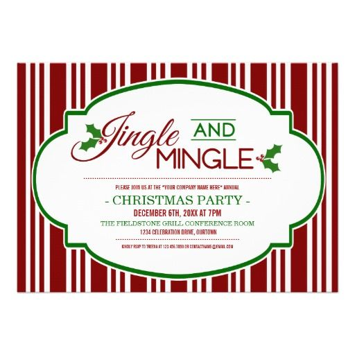 jingle mingle company christmas party invitation christmas