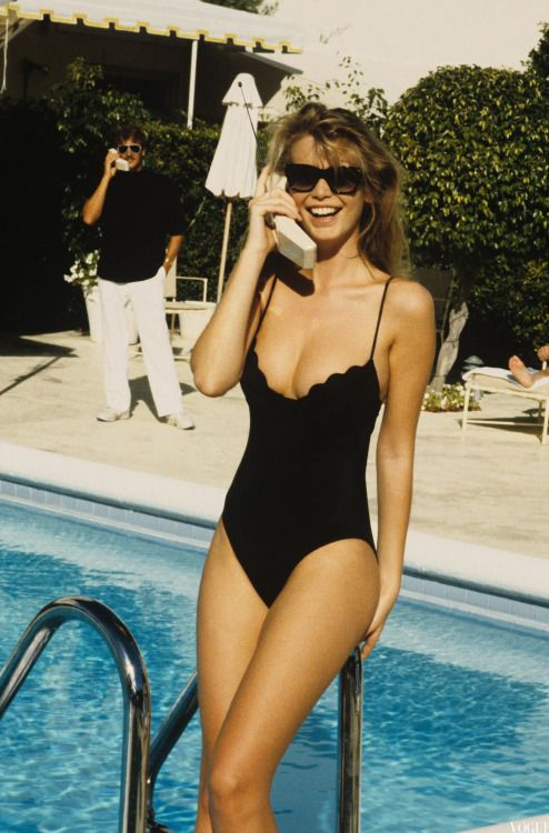 bcfda6780bf7a Claudia Schiffer by Ellen von Unwerth, Vogue, April 1989. Find this Pin and  more on Retro Swimwear ...