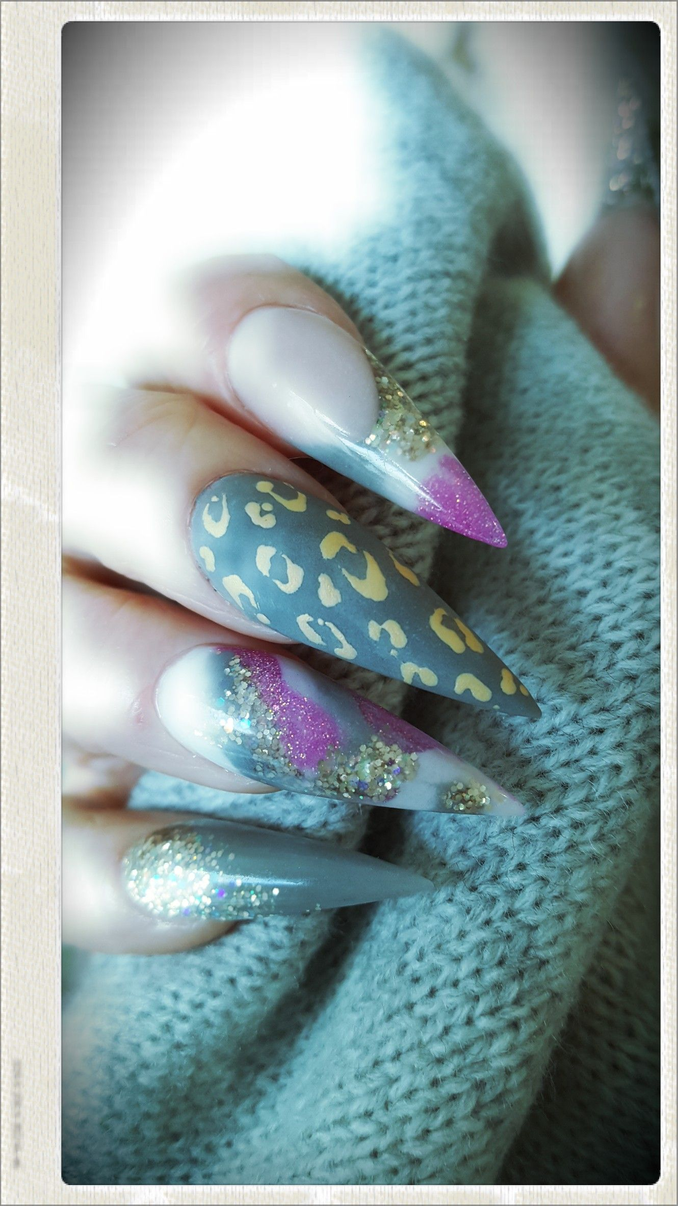 Acrylic Nails. Glam and Glits Private Island, Afterglow. Tammy ...