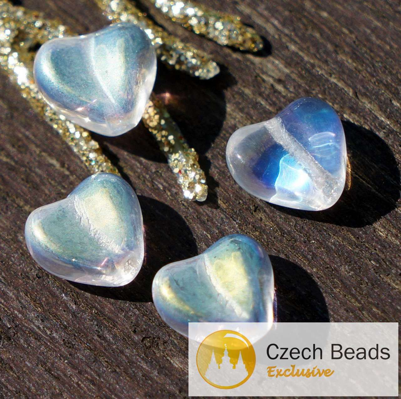 Crystal Clear Czech Glass Flat Leaf Beads Small Carved Leaves 10mm x 6mm 40pcs