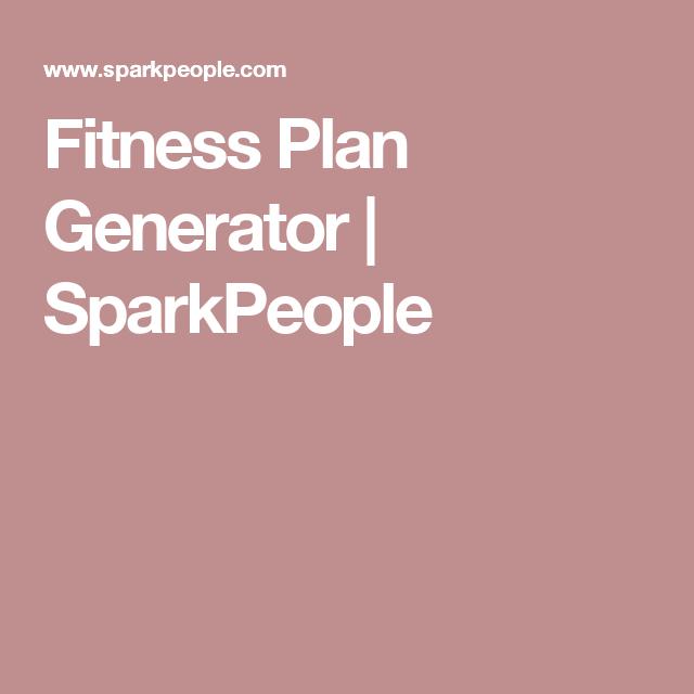 c268934414f Fitness Plan Generator