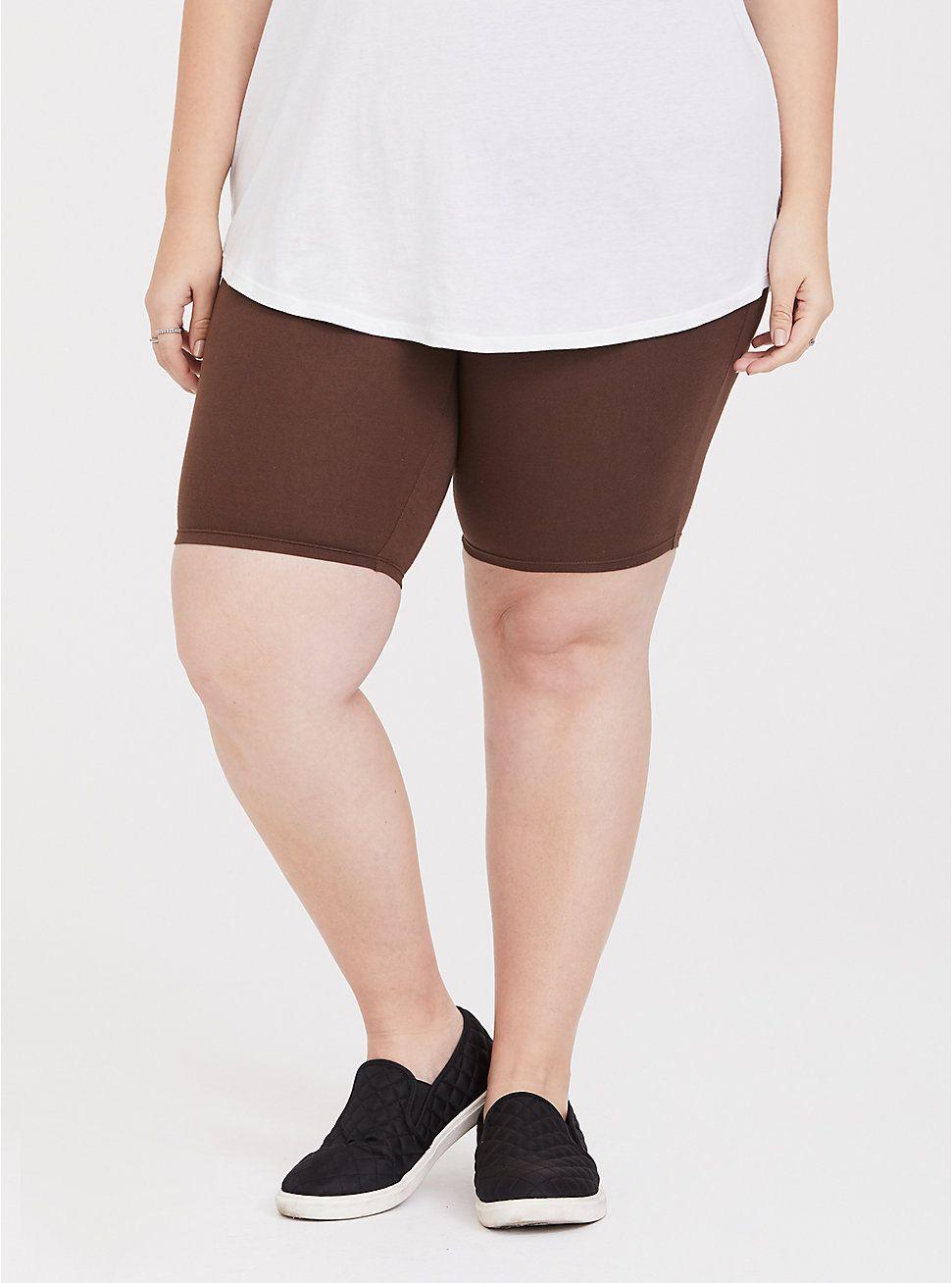 Chestnut Bike Short Gym shorts womens, Plus size shorts