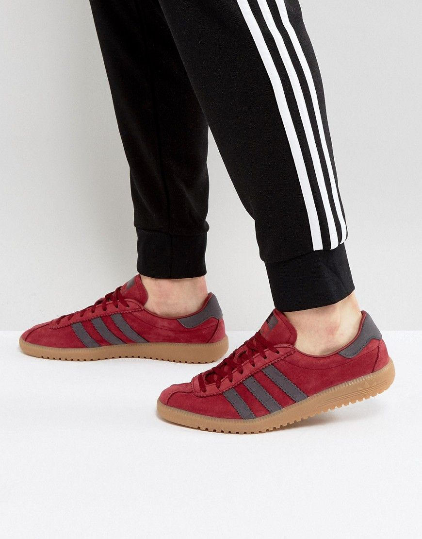 separation shoes 99226 1b20c ADIDAS ORIGINALS BERMUDA SUEDE SNEAKERS IN RED BY9653 - RED.  adidasoriginals shoes