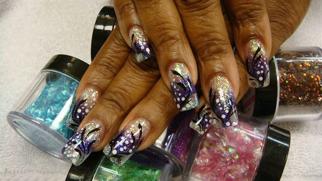 Purple Fever #1 by Akonihb91 - Nail Art Gallery nailartgallery.nailsmag.com by Nails Magazine www.nailsmag.com #nailart