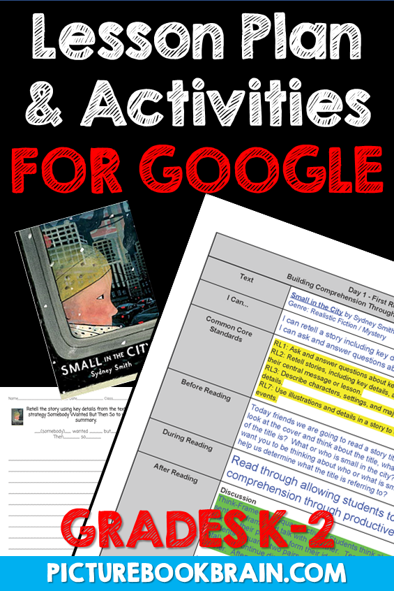 Small in the City by Sydney Smith Lesson Plan and Google Activities