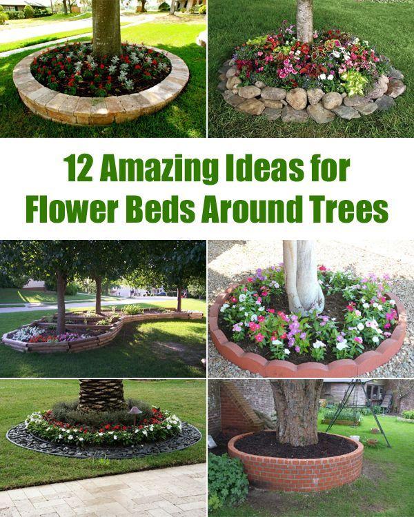 12 tolle Ideen für Blumenbeete rund um Bäume gespeichert aus: Praktische Tipps für zu Hause - Beste Garten Dekoration #flowerbeds