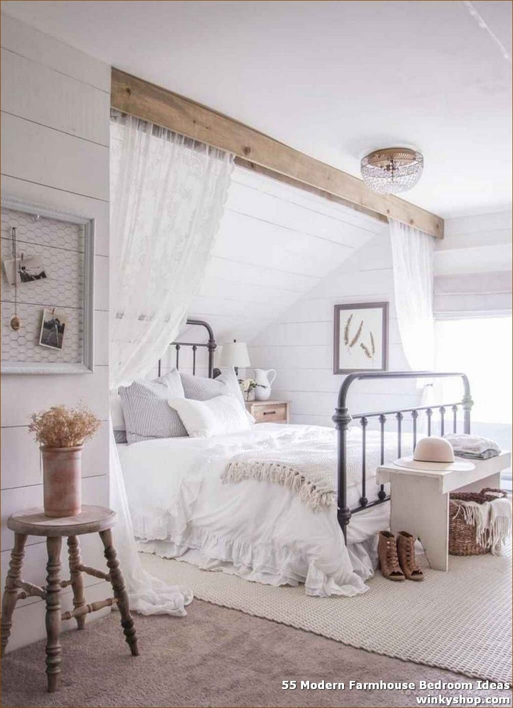 55 Modern Farmhouse Bedroom Ideas ✓ #modernfarmhousebedroom