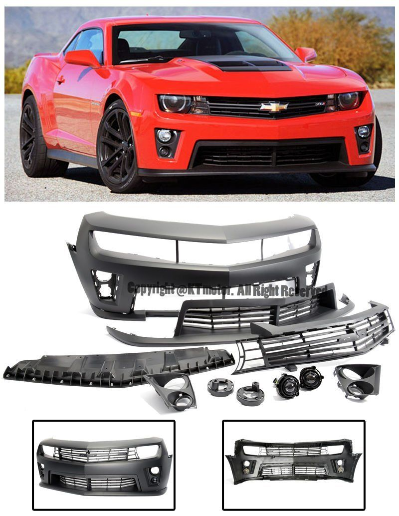 Amazon Com Zl1 Style Front Replacement Bumper Cover Upper Lower