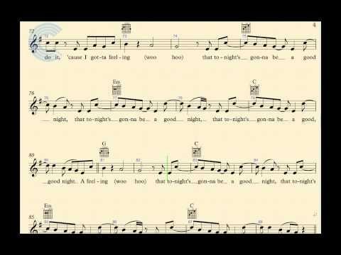 Guitar I Gotta Feeling Black Eyed Peas Sheet Music Chords