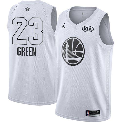 849b97e99 Nike Warriors  23 Draymond Green White Youth NBA Jordan Swingman 2018  All-Star Game Jersey