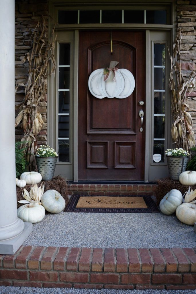 My Fall Front Porch Makeover! An easy and quick weekend