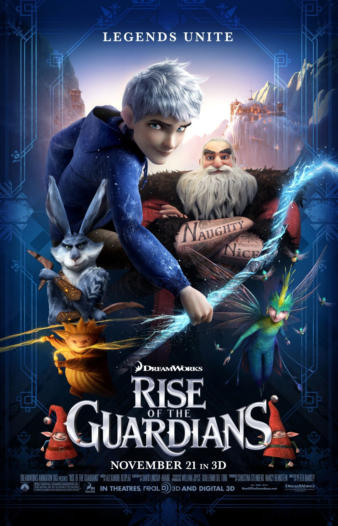 Rise Of The Guardians Rotten Tomatoes The Guardian Movie Gua