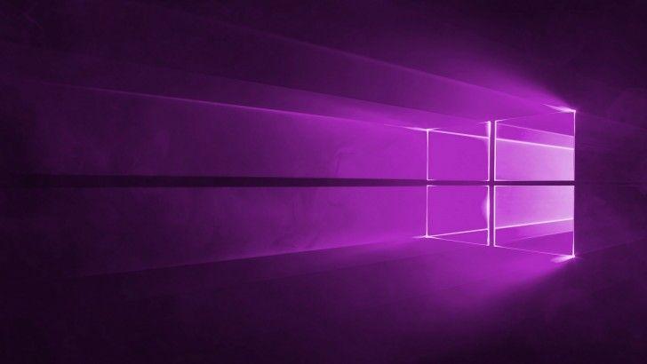 Windows 10 Wallpaper Violet Theme 1920x1080 Fond D Ecran Neon Neon Fond Ecran
