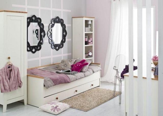 Jugendzimmer Madchen Gestalten Ideen Wand Dekorative Spiegel