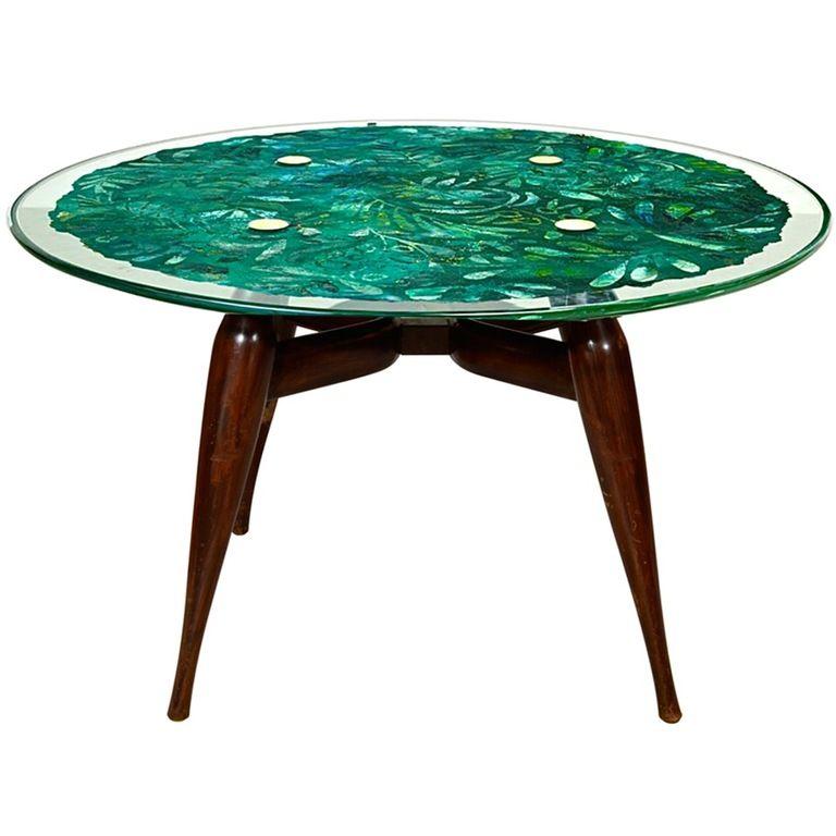 Yin And Yang Mid Century Modern Round Walnut Swedish: Fontana Arte Dining Table By Duilio Bernabè (Dubé) In 2019