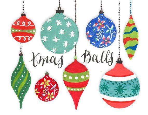 Christmas Holidays Clipart.Christmas Clipart Christmas Tree Balls Christmas Holiday