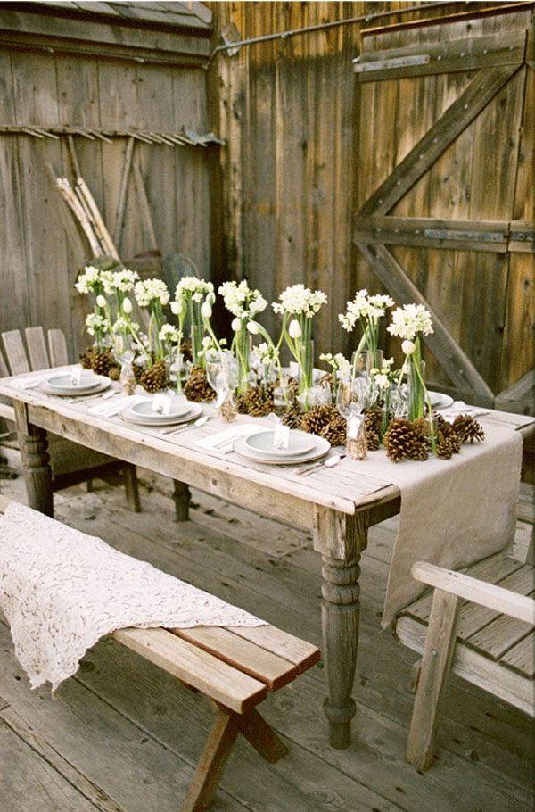 Délicieux Deco Champetre Pour Mariage #13: Mariage Thème Champêtre, 10 Tables Pour Su0027inspirer