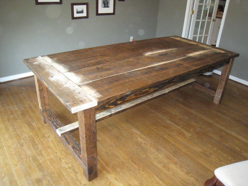 diy harvest table bricolage mobilier de salon maison et id e d co bricolage. Black Bedroom Furniture Sets. Home Design Ideas