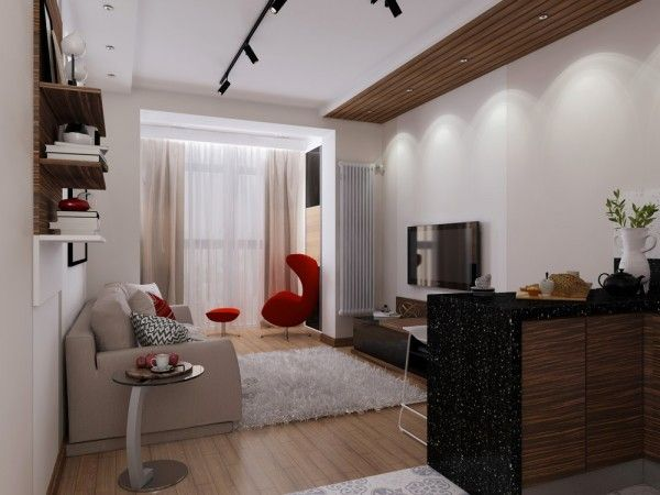 4 id es pour am nager un petit appartement de 30m2 30m2. Black Bedroom Furniture Sets. Home Design Ideas