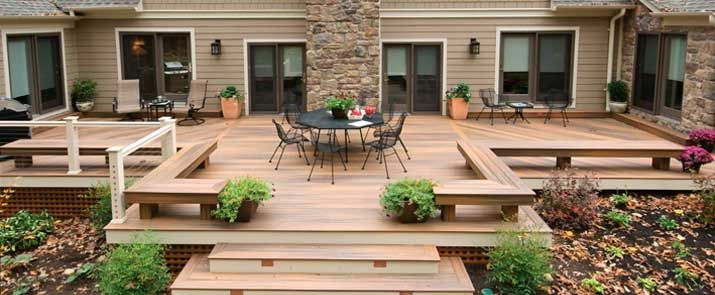 Tarima exterior de madera compuesta horizon decking de - Terrazas de madera ...