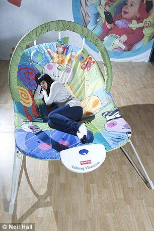 4a60f0b9c00 Who s a big baby  Huge adult-size bouncy chair gives parents the ...