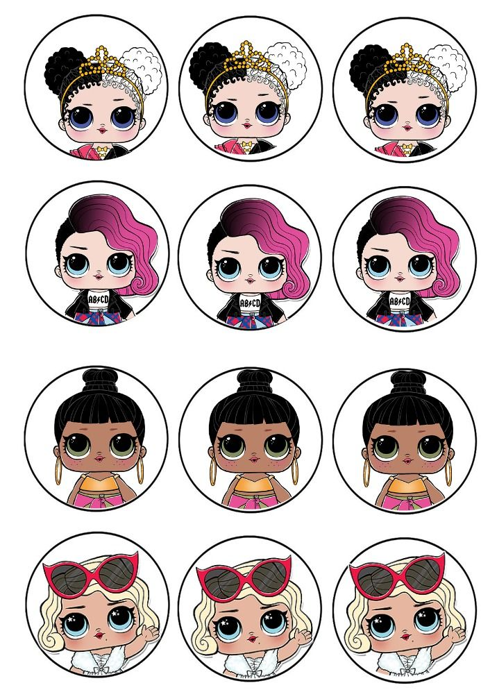 L.O.L. surprise cupcake toppers 2 | Lol dolls, Doll party ...
