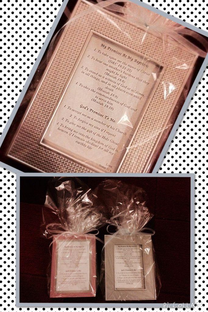 Baptism gift...Picture frame poem