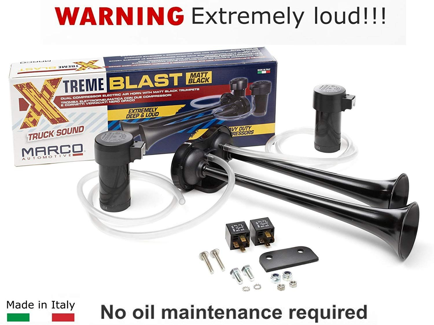 Super Loud 148db Marco Extreme Blast Premium Air Horn Car Truck