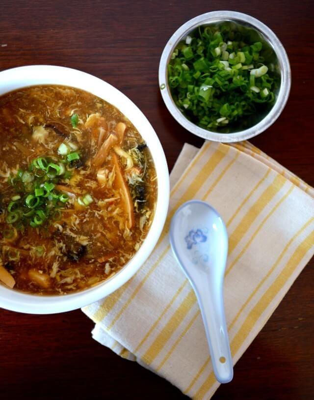 Hot And Sour Soup A Chinese Takeout Standard Recipe By Thewoksoflife Com Hot And Sour Soup Sour Soup Recipes