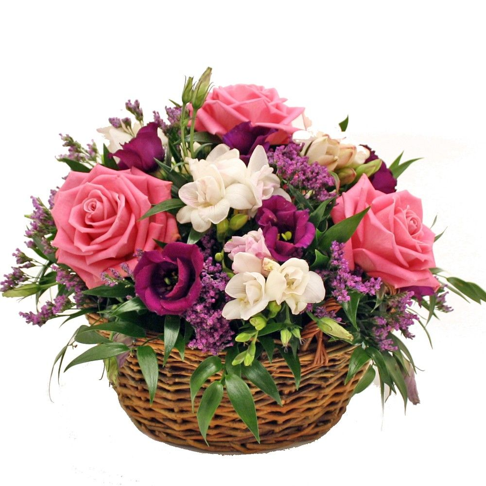 Scented Basket Arrangement 30cm Dia Beautiful Basket Of Roses
