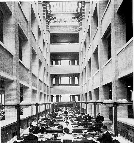 Frank lloyd wright 39 s larkin building first open office - Interior design schools buffalo ny ...