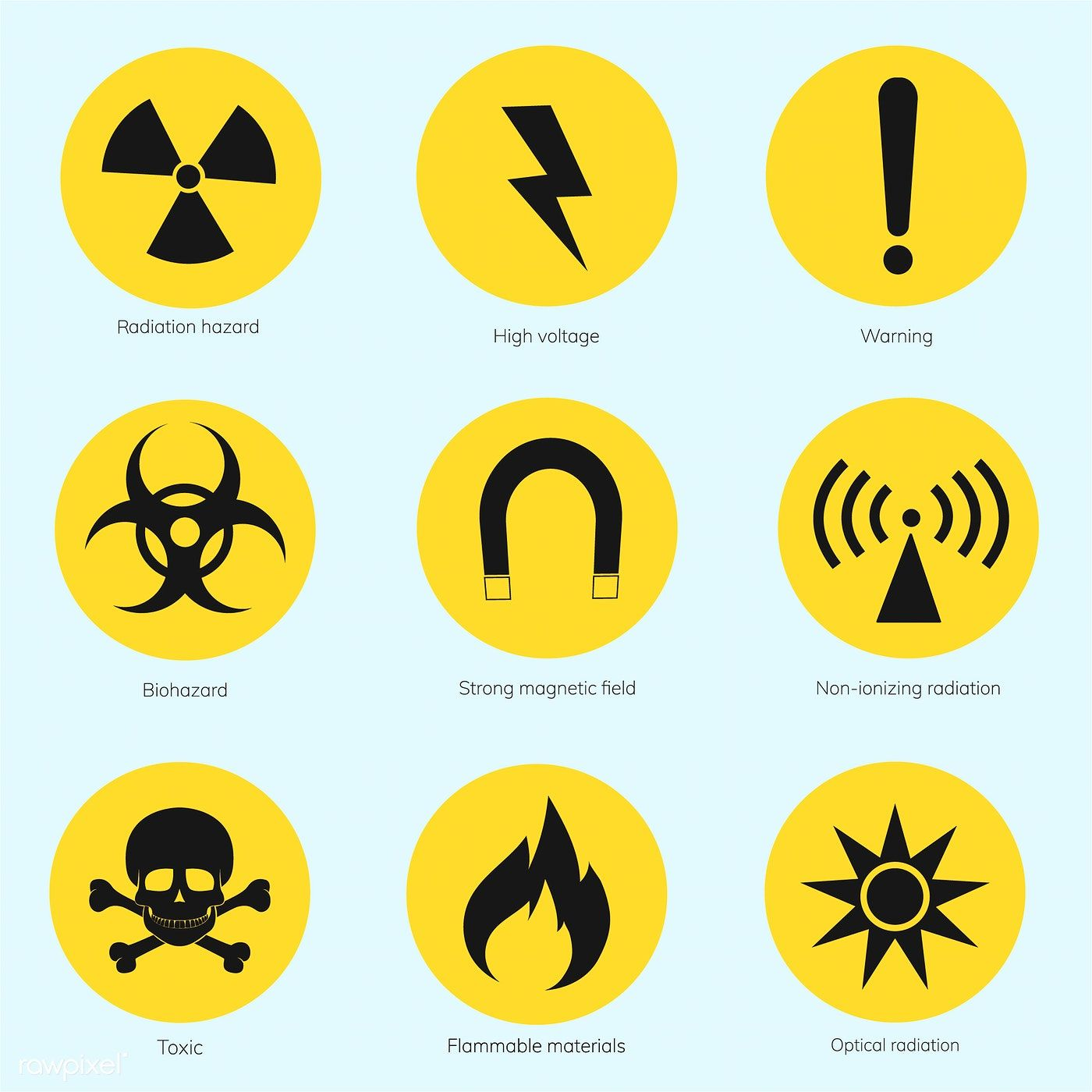 Collection Of Illustrated Warning Signs Premium Image By Rawpixel Com Warning Signs Signs Illustration