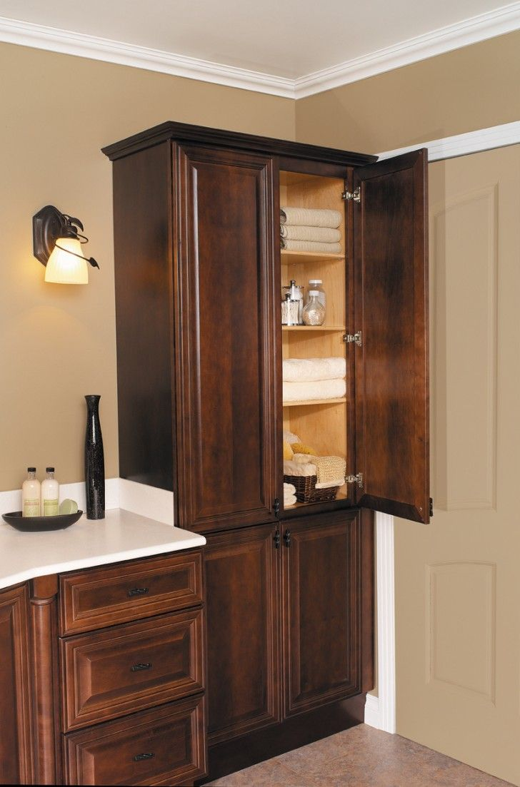 Bathroom Bathroom Linen Cabinets With White Granite Countertop And