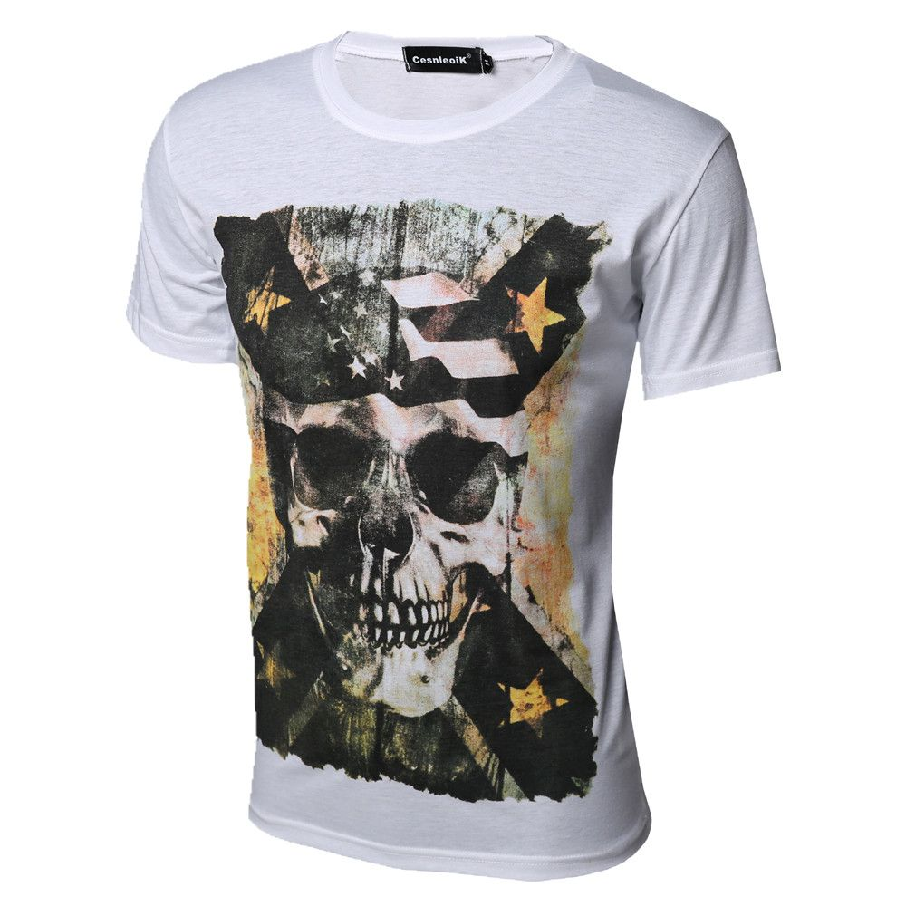 T shirt white brand - 2016 New High Quality Cotton T Shirts Men Short Sleeve Summer Tops For Man Famous